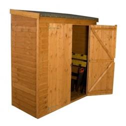 "Lupton 6' x 2'6"" Pent Overlap Outdoor Wooden Storage"