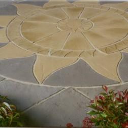 Aztec Paving Circle & Sq Off Kit 3m Square