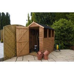 Windermere 6 x 4 Overlap Apex Wooden Shed