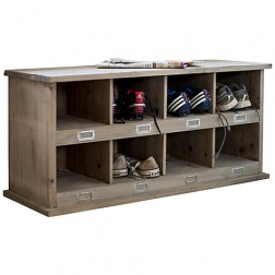 Shoe Locker Storage With 8 Cubby Holes