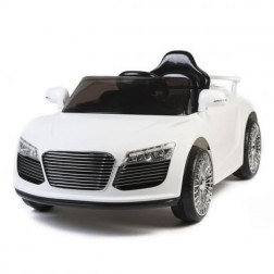 White Audi Style 12v Kids Ride on Car with Remote