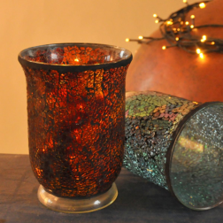 Mosaic Candle Holder Large Opal