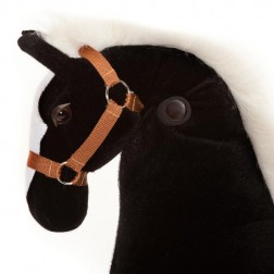 Medium Black Ride on Horse