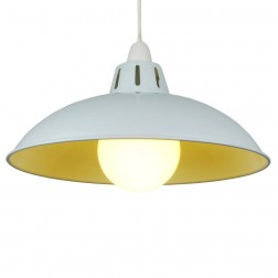 """Funnel 12"""" White Lampshade"""