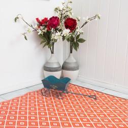 Eco-Friendly Orange Reversible Rug