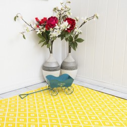 Eco-Friendly Yellow Reversible Rug