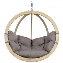Globo Single Hanging Chair Set Taupe