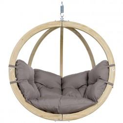Globo Single Hanging Chair Taupe