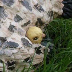 Mother Hen & Chick Garden Ornament
