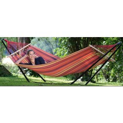 Colourful Hammock with Powder Coated Black Stand
