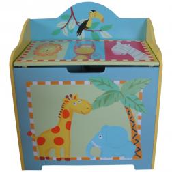 Wooden Safari Childrens Toy Box