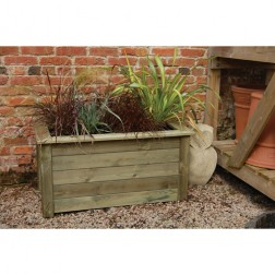 High Quality 1m x 0.5m Garden FSC Wooden Planter Kit - Grow Your Own