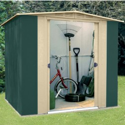Canberra 'Six' - High Quality Metal Steel Garden Shed with Roof Size of 6ft x 5ft (183 x 154cm)