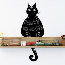 Cat Design Wall Sticker Chalkboard