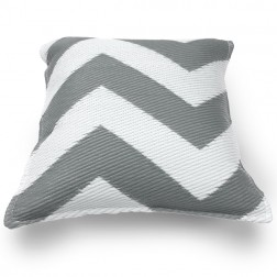 Grey and White Cushion