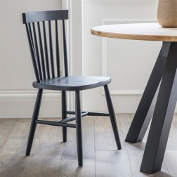 Spindle Back Dining Chair Grey Set of 2