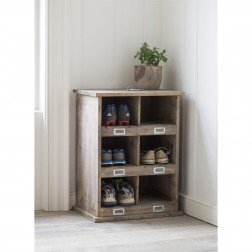 Shoe Locker Storage With 6 Cubby Holes