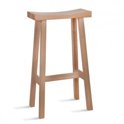 Tall Oak Bar Stool Natural