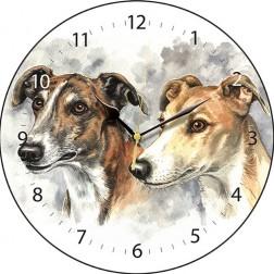 Greyhound Pair Wall Clock