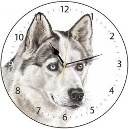 Husky Dog Wall Clock