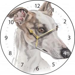 White Greyhound Wall Clock