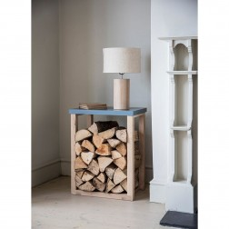 Log Storage Table - Charcoal
