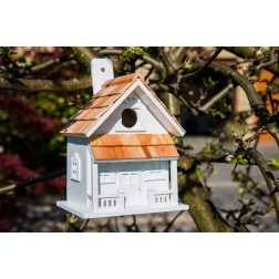 Country Cottage Bird House - White