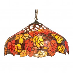 Red & Orange Leaf Pendant Light Shade