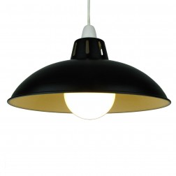 "Funnel 16"" Black Lampshade"