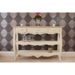 Devon 3 Drawer 2 Shelf Console Table