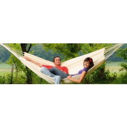 The Superb Barbados Natural Double Swing Hammock for Indoor or Outdoor Use