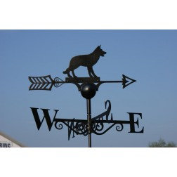 Enchanting Alsation Design Black Weathervane in Solid Steel
