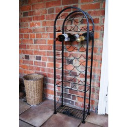 Solid Steel 22 Bottle Wine Rack