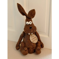 Large Rabbit Bunny Doorstop in Faux Leather