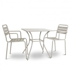 Small Square 2 Seater Bistro Set Clay