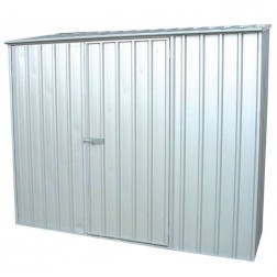 Space Saver Metal Shed in Zinc Grey - 2.26x1.52m