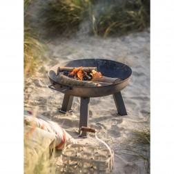 Large Fire Pit - Raw Metal