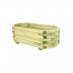Eight Sided (1m x 0.5m) Chunky Wooden Planter