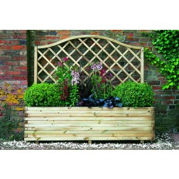 Large 1.5 x 1.8m Wooden Planter With Curved Trellis