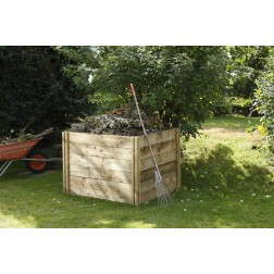 Slot Down Wooden Compost Bin Ideal for Recycling Green Waste