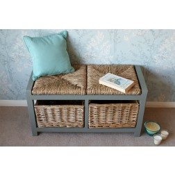 Gloucester 2 Seat Storage Bench - Grey