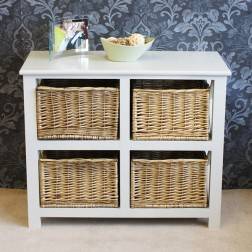 Gloucester Petite 4 Drawer Storage Unit Chest Of Drawers