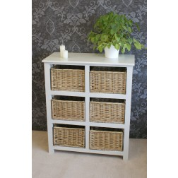 Gloucester Petite 6 Drawer Storage Unit Chest Of Drawers