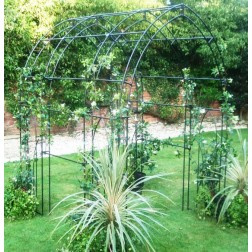 Gothic Style Trellis Tunnel in Attractive Black Steel
