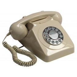 Retro Push Button Telephone - Ivory