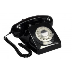 Retro Rotary Telephone - Black
