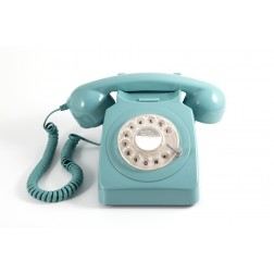 Retro Rotary Telephone - Bue