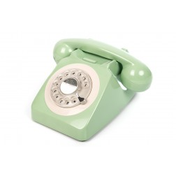 Retro Rotary Telephone - Mint Green
