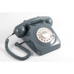 Retro Rotary Telephone - Grey