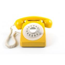Retro Rotary Telephone - Mustard